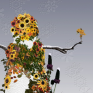 sunflower-snowman